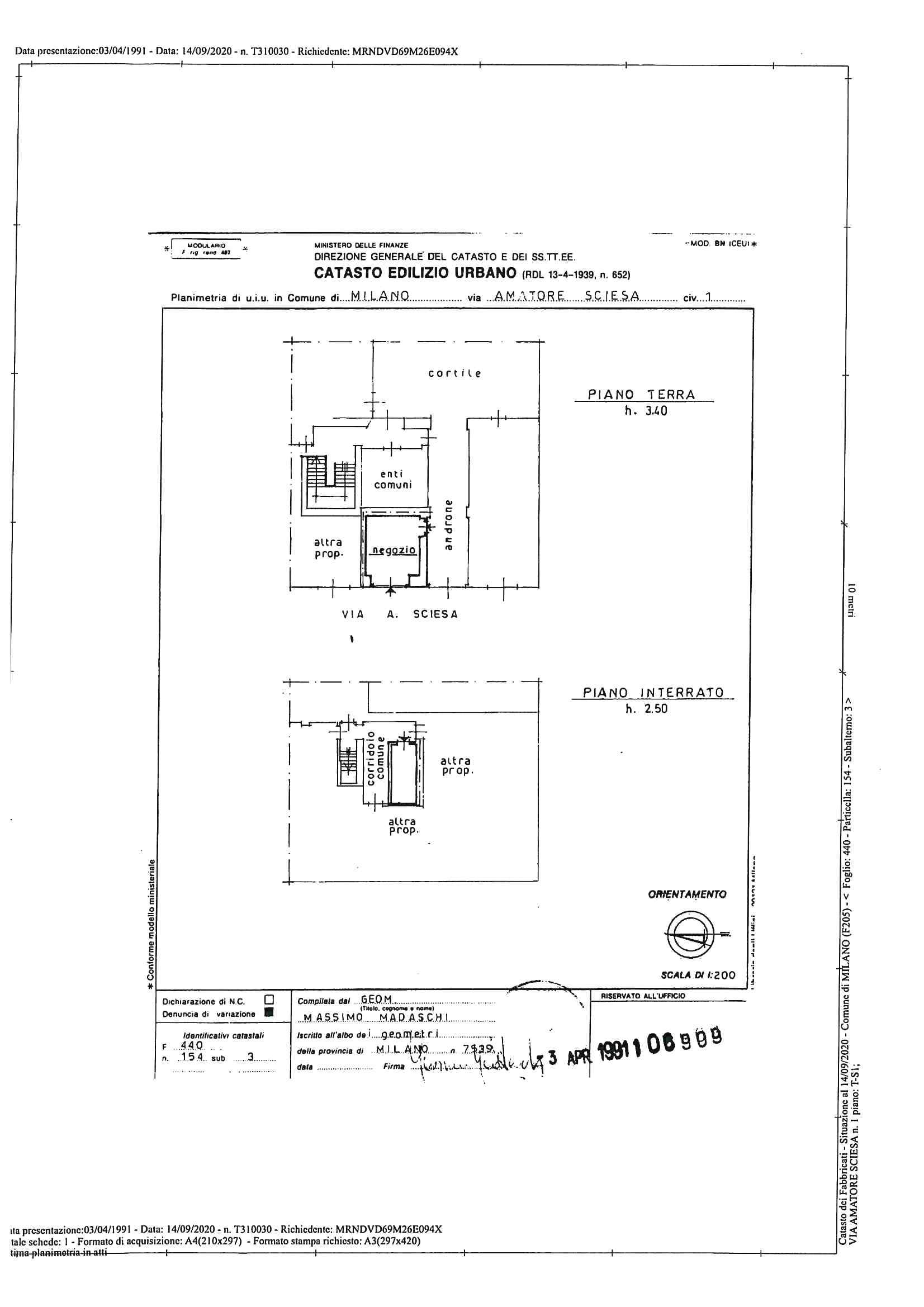 NEGOZIO ZONA P.ZA V GIORNATE – Via Sciesa – RIF. AGENZIA 9012M
